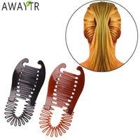 Awaytr 1 قطعة امرأة الإيطاليات الشعر بريد بانانا كليب العقرب نوع الشعر القابضة أداة ذيل حصان المطاط العصابات الشعر اكسسوارات للشعر H0916