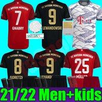 21 22 Davies Bayern Sane HRFC Jersey Goleiro Gkingkeeper Gk Neuer Lewandowski Gnabry Muller Munique Camisa de Futebol Adulto Homens Kit Kids Munchen 2021 2022