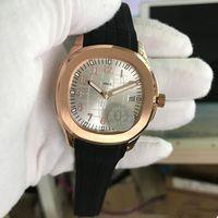 탑 U1 고품질 공급 업체 운동 새겨진 망 시계 자동 기계 고무 스트랩 투명 백 실버 다이얼 남자 시계