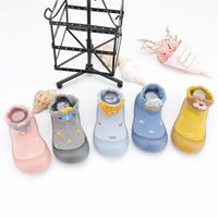 First Walkers Infant Toddler Indoor Animals Print Cute Casual Breathable Soft Bottom Baby Elastic Cotton Fabric Socks Shoes
