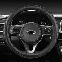 Steering Wheel Covers Genuine Leather Car Cover For Kia Cerato Forte Sportage K5 K9 K2 K4 KX3 KX5 KX7 Seltos Stinger Accessories
