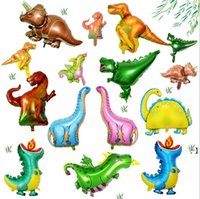 Dinosaur Foil Balloons Boys Animal Decor Birthday Balloon Aluminium Film Party Decoration Accessories HHB7802