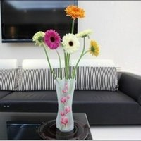 Creative Clear PVC Plastic Vases Water Bag Eco-friendly Foldable Flower Vase Reusable Home Wedding Party Decoration BWD6739