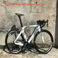 White Custom RB1K Углеродная дорога Carbon Colled Полный велосипед Glossy с R7000 R8000 Groupset 50 мм дороги
