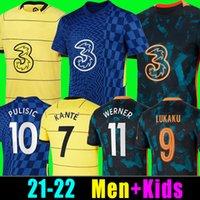 CFC Fussball Jersey Lukaku Pulisic Ziyech Havertz Kante Werner Abraham Chilwell Mount Jorginho 2021 2022 Giroud Football Hemd 21 22 Home Away Vierth Men + Kids Kit