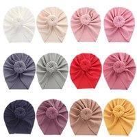 INS Candy Colors Hair Accessories Newborn Baby Headband Knot Hats Toddler Headwrap Elastic Infant Turban knot Fabric Beanie Cap for 0-36months