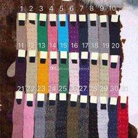Renkli Mektup Baskı Kadınlar Uzun Çorap Çorap Moda Rahat Bayan Pamuk Çorap Kız Açık Spor Orta Tüp Çorap 35 Renkler
