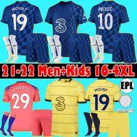 Chelsea Men Kids Kit 2020 2021 Pulisic Ziyech Havertz Kante Werner Abraham Chilwell Mount Jorginho Soccer Jersey 20 21 Giroud T.silva Футбольная рубашка