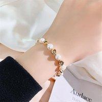 New Design Female Sister Best Gifts Simple Advanced Fashion Adjustable Charm Pearl Bracelet Sweet Bracelet For Lady Women