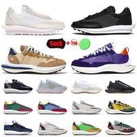 2021 Varış Sacai X Waffle Koşu Ayakkabısı Blazer Vaporwaffle Erkek Kadın Naylon Beyaz Siyah Susam Mavi Void Koyu Iris Eğitmenler Sneakers 36-45