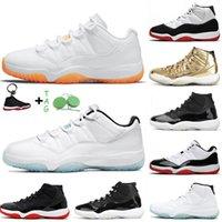 Sapatos de basquete 11s xi retro baixo lenda azul citrino 2021 Jumpman de alta qualidade 11 25º aniversário branco alta raça concord spacers sneakers 36-47