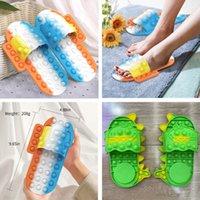 Fidget Toys Shoes Slippers Press The Push Sensory Bubble New Desktop Finger Squeeze Bubbles Puzzle Fashion Silicone Adult Children Decompression Toy