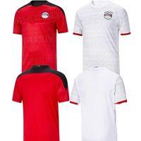 2021 Egitto Nation Soccer Jersey M. Salah Home Rosso Away Bianco 20 21 Kahraba A. Eguazi Ramadan M.ELNENY Uniformi Maglie da uomo Camicie da calcio
