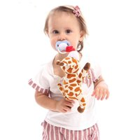 Pacifiers# Baby Doll With Pacifier Clips Lovely Elephant Toys Removeable Food Safe Silicone Nipples And Gift Plush Toy