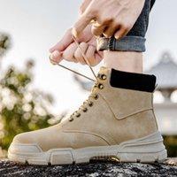Çizmeler 2021 İlkbahar ve Sonbahar Yüksek Üst Erkek Ayakkabı Martin İngiliz Moda Trend Rahat Takım Çok Yönlü
