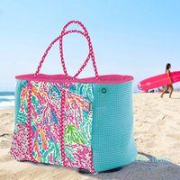 Designer- DIY Neoprene women beach bag fashion Trapeze Tote bags luxury handbags women party bags designer
