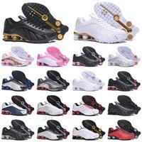 Shox R4 Мода R4 Мужские Бегущие Обувь Дизайнерская Обувь Neymar Черный Металлический Серебряный Кометы Красное Золото Тройное Белые Черные Мужские Тренеры Кроссовки