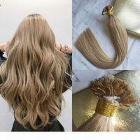 100% Virgin Russian Human Hair Hair PRE BANDED EXTENSIONS Doppi capelli disegnati Punta piatta Capelli # 27 Miele Blonde Keratina Tip Capelli 100g