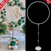 Wedding Arch Plastic Round Ring Stand Artificial Flower Balloons Decor Birthday Party Decoration Frame
