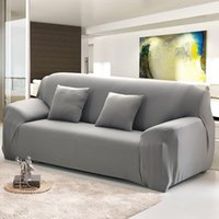 1 2 3 4 Sitzer Sofa Cover Spandex Modern Elastic Polyester Solide Couch Slipcover Stuhl Möbel Protector Wohnzimmer 6 Farben 471 V2