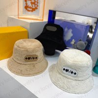 Designer Bucket Chapéu Chapéu de Peles Carta Coelho de Veludo Cap de Veludo Caps 3 Cor Top Quality