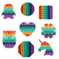 Party Cartoon Tier Früchte Muster Push Blase Zappeln Spielzeug Druck Relief Erhöhen Konzentration Soft Squeeze Spiel