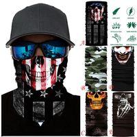 Cycling Caps & Masks Motorcycle Neck Tube Ski Scarf Face Mask Balaclava Halloween Party Men Women Magic