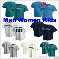 2021 Benutzerdefiniert # 51 Randy Johnson Baseball Trikots Hisashi Iwakuma Dee Gordon Dan Vogelbach 24 Ken Griffey Jr. 13 Alex Rodriguez Mann Frauen Kinder Jersey