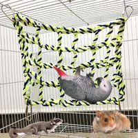 1pc escalade filet pour perroquet animaux de compagnie oiseau jouet jeux de jouet suspendue corde avec boucles balançoires échelle perruche perruche budgie macaw jouer gym jouets petit animal