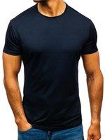 Men's T-Shirts 2021 Men Summer Shirt Cotton Gym Fitness T-shirt Clothing Sports T Print Short Sleeve Running