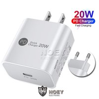 USB-C شاحن PD 20W نوع C تهمة الجدار محول سريع الولايات المتحدة eu المقابس شحن سريع شحن الهاتف لآيفون 12 برو ماكس نوي
