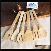 Utensilien Bambuslöffel Spatel 6 Arten Tragbare Holzgerät Küchenkocher Turner GEFLOUNK MIXING HALTER SHOVELS GWE2911 U0JY0 CMYJE
