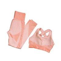 Façonner leggings Fitness Costumes Yoga Femmes Tenues 3PCs Set T-shirt à manches longues + Sport Sport + Sangert sans soudure Vêtements en cours d'exécution Gym Gym, LF051 01