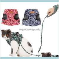 Collars Leads Supplies Home & Gardenpet Dog Vest Outdoor Travel Harness Leash Set For Puppy Cat Floral Pattern Kitten Walking Harnesses Pet