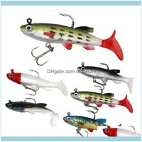 Sports & Outdoors8.5Cm 14G T Tail Fishing Lures Wobblers Artificial Bait Soft Sile Lure Sea Bass Carp Lead Spoon Jig Hooks Drop Delivery 202