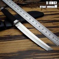 Lidar com facas de San Mai, faca de caça ao ar livre faca fixa samurai 440C ferramenta de borracha livre faca de sobrevivência livre frete fria lâmina de aço WWIQ