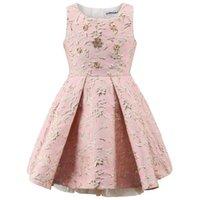 Childdkivy Party Детская принцесса платье одежда мяч платья без рукавов детей вечерние платья для девочек 3-10 лет 210317