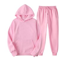 Gym Clothing 2Pcs Sport Suit Fitness Solid Color Women's Tracksuits Hooded Pullover Sweatpants Sweatshirt Casual Pants Sets Sportswear Male