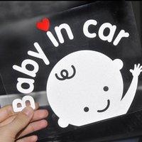 3D Cartoon Car Stickers Reflective Vinyl Styling Baby In Car Warming Car Sticker ,Baby on Board Reflective wall sticker