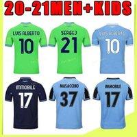 جديد 20 21 Lazio Soccer Jersey Lucas Kishna Basta d Jord Jevic 10 F.anderson Ancobile Lulic Men 2020 2021 قميص كرة القدم مخصص
