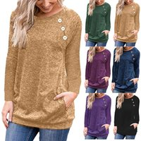 Women's T Shirt Women Sweater Iagonal Strip Buttons Knitted Slim Pullover Long Sleeve Button Female Sweaters 2021 Autumn Fashion Sexy Ladies