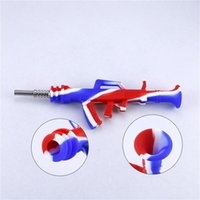 Кальяны новая форма силиконового нектара Nectar Nector Collector Kit AK47 Design Водопроводная труба с титановым наконечником DAB