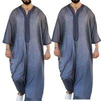 Ethnic Clothing 2021 Fashion Dubai Casual Kaftan Robe Muslim Dresses Abaya Shirt For Mens