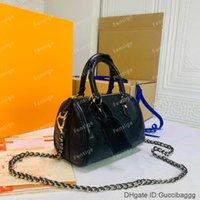 Дизайнер роскошные сумки Speedy цепи BB LAGLBSKIN TEBOSED PACKESS BOSTON Наклонная сумка для плеча подушка для подушки Crossbody M57111