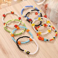 Link, Chain Vienkim Bohemian Colorful Beads Anklets For Women Handmade Elasticity Foot Jewelry Summer Beach Barefoot Bracelet Ankle On Leg