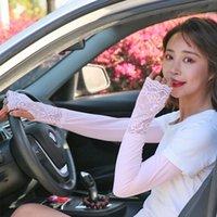 Coupeaux de genouils Femmes Couture de dentelle Couture de glace Sunscreen Coly Silk Cool Silk Bras d'extérieur Gants Conduite Protection du soleil