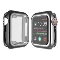 Eletroplate Colorido 360 Cobertura Cheia TPU Capa de Relógio para Apple Iwatch Screen Protector para Apple Watch Series 1 2 3 4 5 CASOS