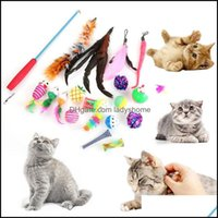 Cat Supplies Home & Gardencat Toys 1 Set Smart Interactive Ball Dog Training Toy Stick Feather Fishing Rod Combination Pet Squeaky Suppiy Dr