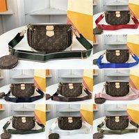 패션 Womens Luxurys 디자이너 크로스 바디 가방 핸드백 지갑 2021 여름 겨울 정품 가죽 숙녀 토트 동전 지갑 5pcs 3 아이템 숄더 가방