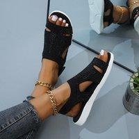 Sandals 2021 Women Soft Comfortable Mesh Upper Breathable Adjustable Cross-strap Design Sandalias Mujer